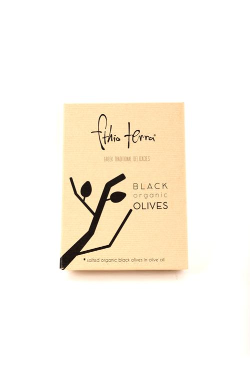 Black organic olives